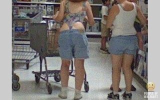People Of Wal-Mart One Piece Thong & Jorts